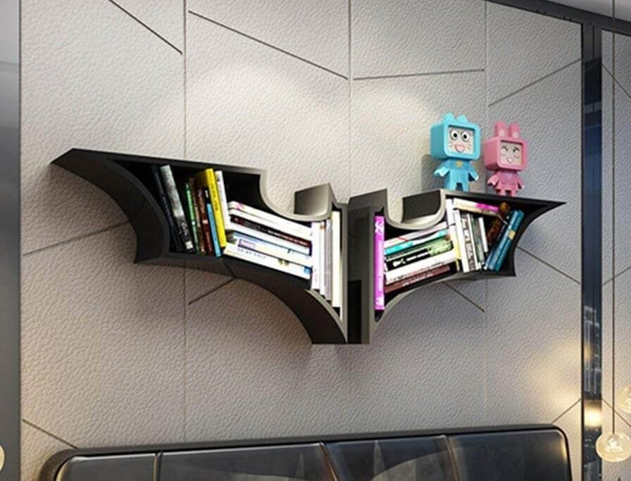Batman Bücherregal, Marvel DC Batman Wandregal, Geschenk für Comic Fan, Nerdiges Geschenk, Geschenk für den Bruder Geschenke über 100euro
