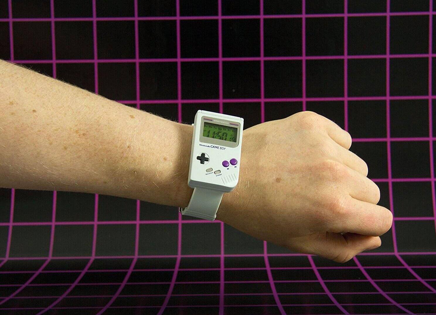 Nintendo Gameboy Uhr - Gameboy Watch - Game Boy Armbanduhr Geschenk für Nerds und Hipster - 90er Retrogeschenk - Nostalgisches Geschenk