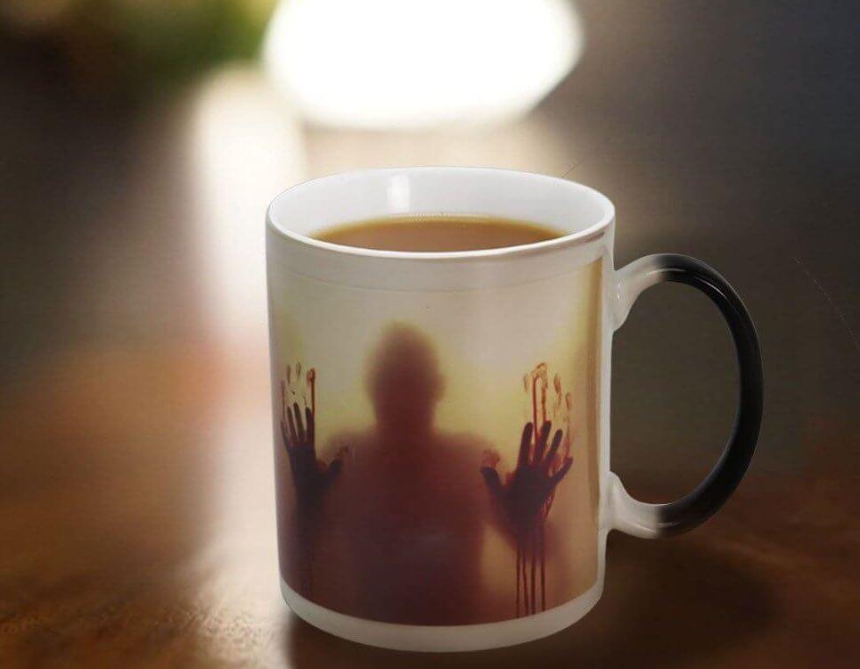 Gruselige Farbwechseltasse, Zombie Tasse, Zombie farbwechsel Becher, lustiger Becher, lustige Tasse, Dawn of the Dead Tasse, The Walking Dead Tasse