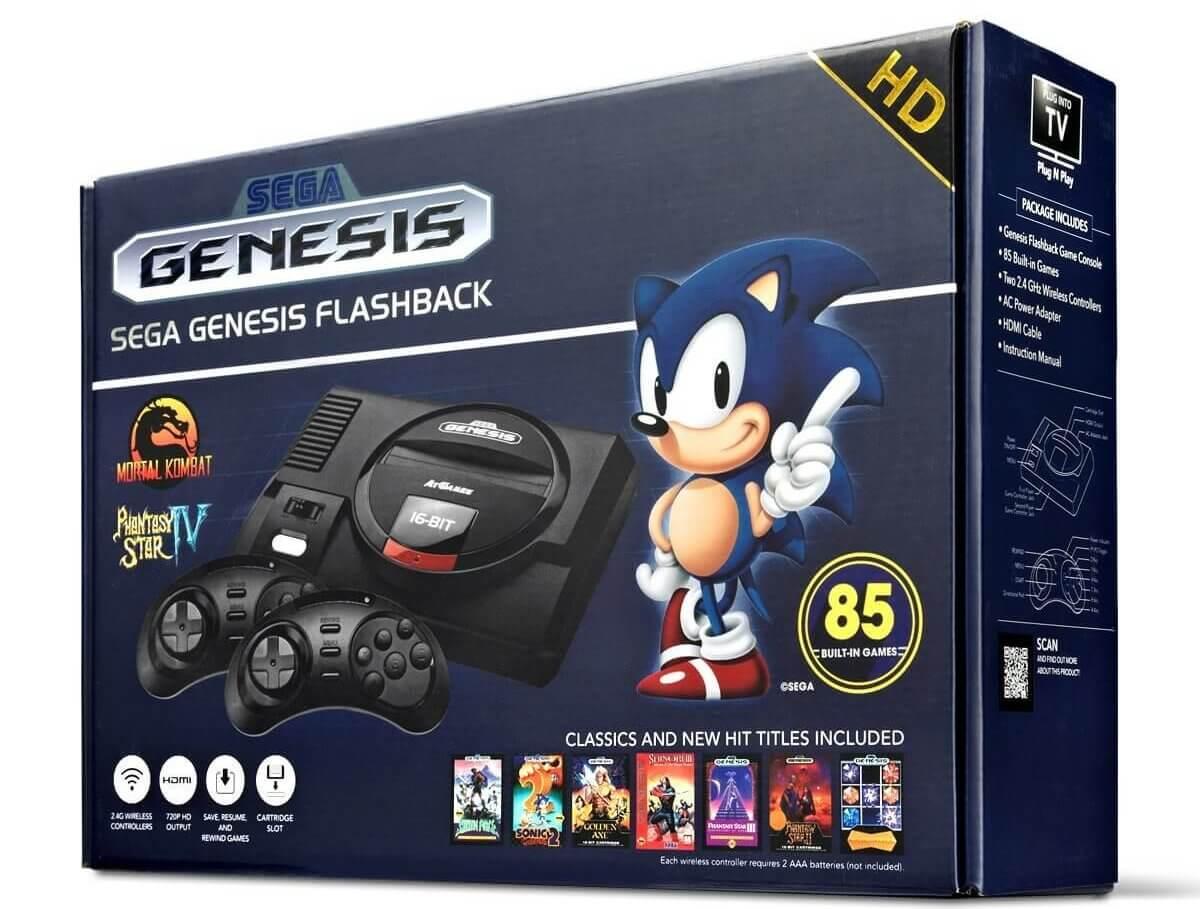 Retro Sega Mega Drive Konsole - Neuauflage Sega Mega Drive - Retro Spiele spielen - Spiele der 90er