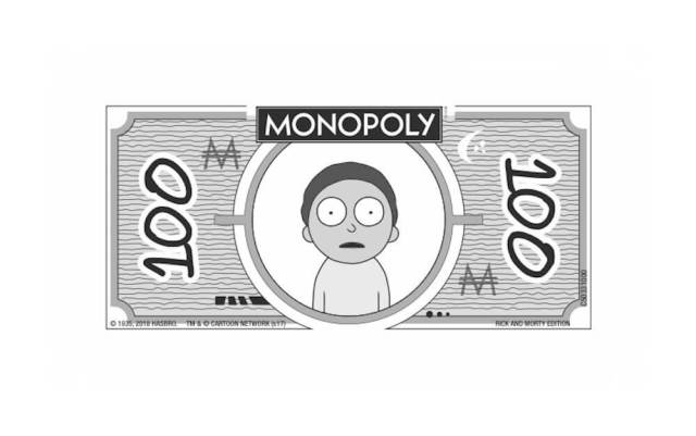 Monopoly Rick and Morty Edition Geld 2