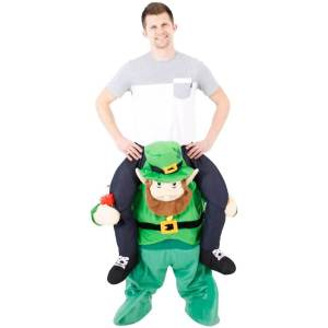 108 Carry Me Kostüm Leprechaun Huckepack Kostüm irischer Kobold Monster Verkleidung Fabelwesen Piggyback Ride On auf Schultern Faschings Karneval Kostüm Halloween JGA Carry Me Bestseller