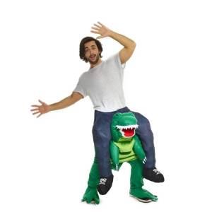 117 Carry Me Kostüm Dinosaurier Huckepack Kostüm Dino T-Rex Verkleidung Fabelwesen Piggyback Ride On auf den Schultern Faschings Karneval Kostüm Halloween JGA Carry Me Bestseller