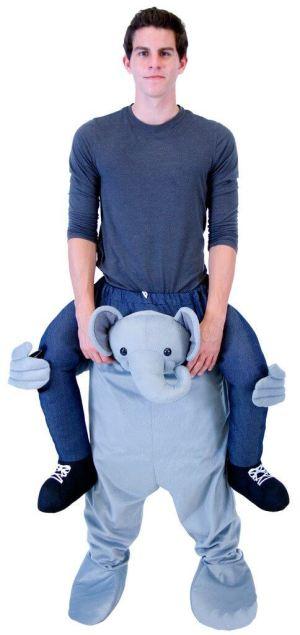 12 Huckepack Elefante Huckepack Kostüm Elefanten Tierkostüm Tierkostüm Piggyback Ride On auf dem Rücken Kostüm Faschings Geschenk Karneval Kostüm