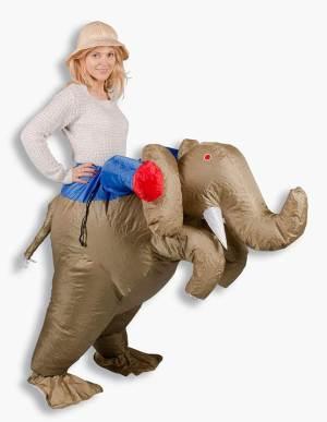 13 Huckepack Elefante Huckepack Kostüm Elefanten Tierkostüm Tierkostüm Piggyback Ride On auf dem Rücken Kostüm Faschings Kostüme Karnevalsverkleidung