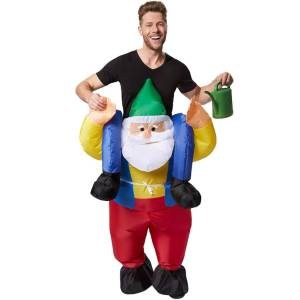 142 Carry Me Kostüm aufgeblasener Zwerg Huckepack Kostüm Zwerg Verkleidung Fabelwesen Piggyback Ride On auf den Schultern Kostüm Faschings Karneval Kostüm JGA Carry Me Bestseller