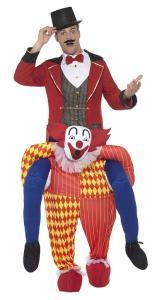 143 Carry Me Kostüm Clown Huckepack Kostüm Clowns Verkleidung Fabelwesen Piggyback Ride On auf den Schultern Kostüm Faschings Karneval Halloween Fastnacht JGA Carry Me Bestseller