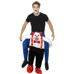 145 Carry Me Kostüm böser Clown Huckepack Kostüm Clowns Verkleidung Fabelwesen Piggyback Ride On auf den Schultern Faschings Karneval Kostüm Halloween Fastnacht JGA Carry Me Bestseller