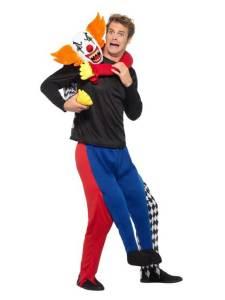 149 Carry Me Kostüm böser Clown von Hinten Huckepack Kostüm Clowns Verkleidung Fabelwesen Piggyback Ride On auf den Kostüm Faschings Karneval Kostüm Halloween JGA Carry Me Bestseller