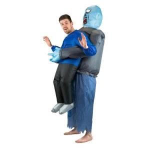 154 Carry Me Kostüm Zombie trägt dich Duo Huckepack Kostüm Zombie von Hinten Verkleidung Piggyback Ride On Kostüm Faschings Geschenk Karneval Kostüm