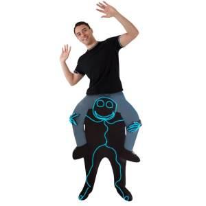 157 Carry Me Kostüm Comic Lichtfigur Huckepack Kostüm ausgefallene Figur Verkleidung Fabelwesen Ride On auf den Schultern Kostüm Faschings Karneval Kostüm JGA