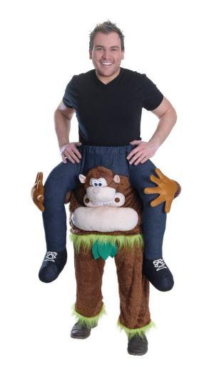 23 Huckepack Affe Kostüm Affen Verkleidung Tierkostüm Piggyback Ride On auf den Schultern Kostüm Faschings Geschenk Karneval Kostüm Halloween Fastnacht