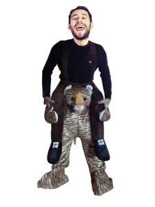 32 Huckepack süßer Tiger Kostüm Tiger Verkleidung Tierkostüm Piggyback Ride On auf den Schultern Kostüm Faschings Geschenk Karneval Kostüm Halloween Rosenmontag Rathaussturm Kostüme
