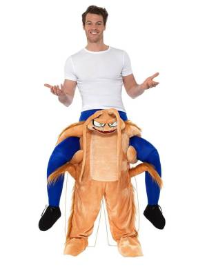 56 Carry Me Kostüm lustiges Kakerlake Huckepack Kostüm Kakerlake Verkleidung Tierkostüm Piggyback Ride On auf den Schultern Faschings Karneval Kostüm Halloween JGA Junggesellenabschied