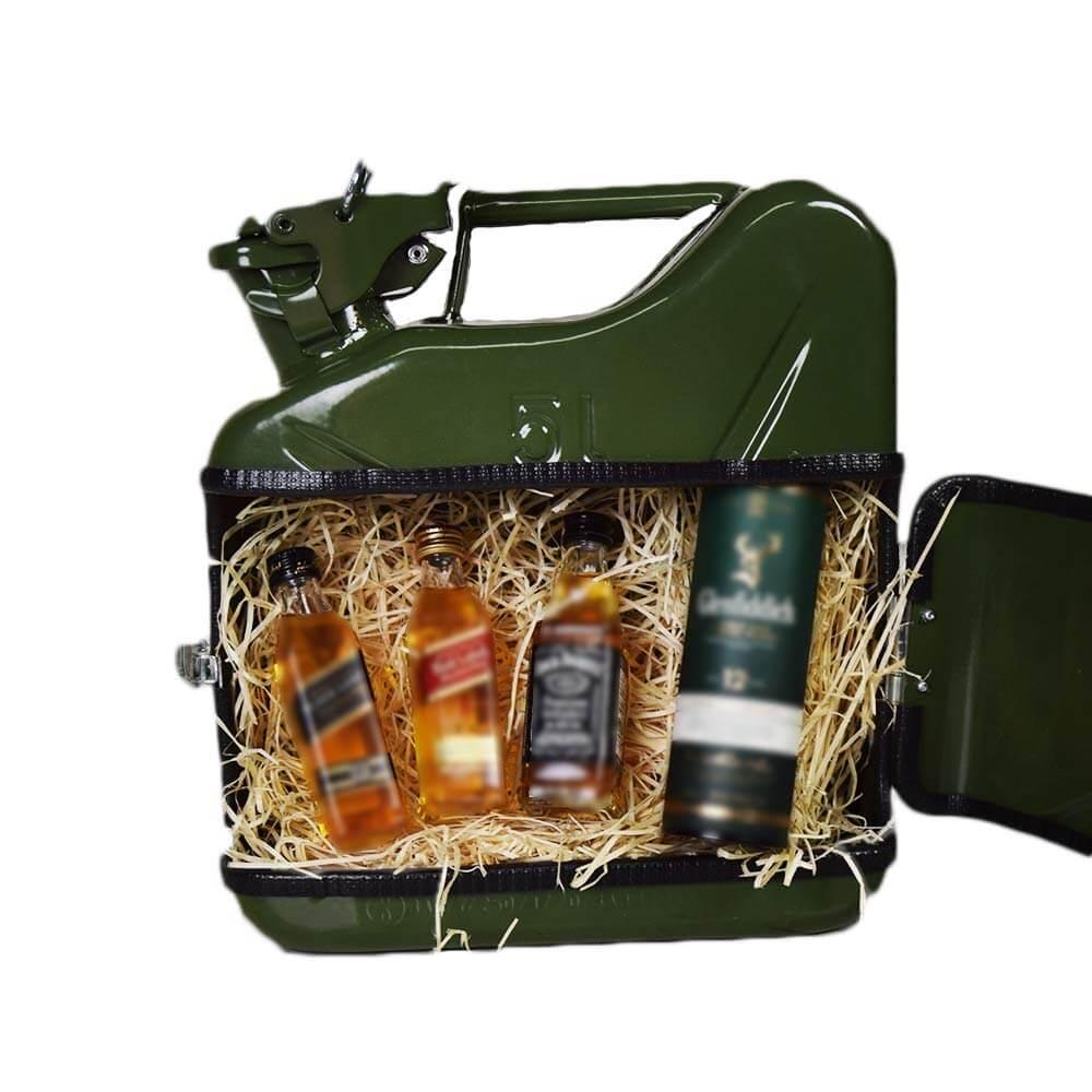 5l Kanister Bar grün Das Whiskyversteck Aus Retro-Benzinkanistern