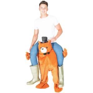 6 Carry Me Bär Teddy Piggyback Ride On auf dem Rücken Faschings Geschenk Rosenmontag Kostüm
