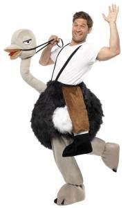 65 Carry Me Kostüm Strauß Huckepack Kostüm Strauß Verkleidung Tierkostüm Piggyback Ride On auf den Schultern Kostüm Faschings Karneval Kostüm Halloween JGA Junggesellenabschied