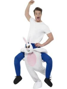 75 Carry Me Kostüm Hase Huckepack Kostüm Hase Verkleidung Tierkostüm Piggyback Ride On auf den Schultern Faschings Geschenk Karneval Kostüm Halloween JGA Junggesellenabschied