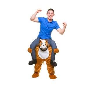 82 Carry Me Kostüm Hund Bulldog reiten Huckepack Kostüm Hund Bulldogge Verkleidung Piggyback Ride On auf den Schultern Faschings Karneval Kostüm Halloween Junggesellenabschied