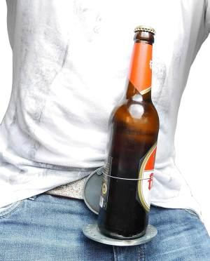 Bierhalter Gürtelschnalle - Beer2Go und so erleichtert das leben