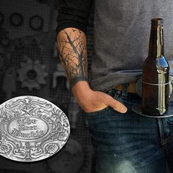 Bierhalter Gürtelschnalle -Bierhalten Gürtelschnell 1 - Bier freihändig trinken