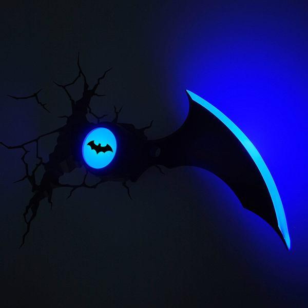 Superhelden 3D Wandleuchten – Optisch ein Highlight - Batman Batarang 2