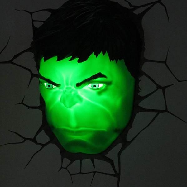 Superhelden 3D Wandleuchten – Optisch ein Highlight - Hulk 2