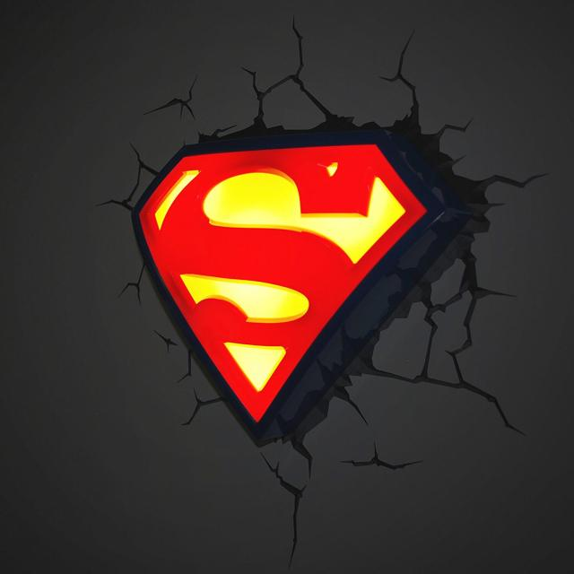 Superhelden 3D Wandleuchten – Optisch ein Highlight - Superman 2