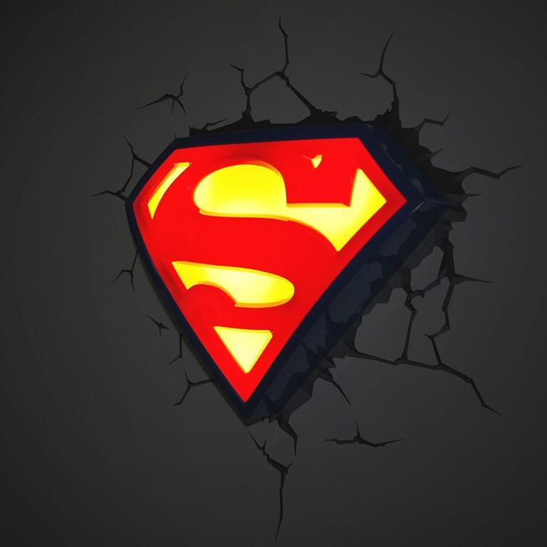 Superhelden 3D Wandleuchten – Optisch ein Highlight - Superman 2