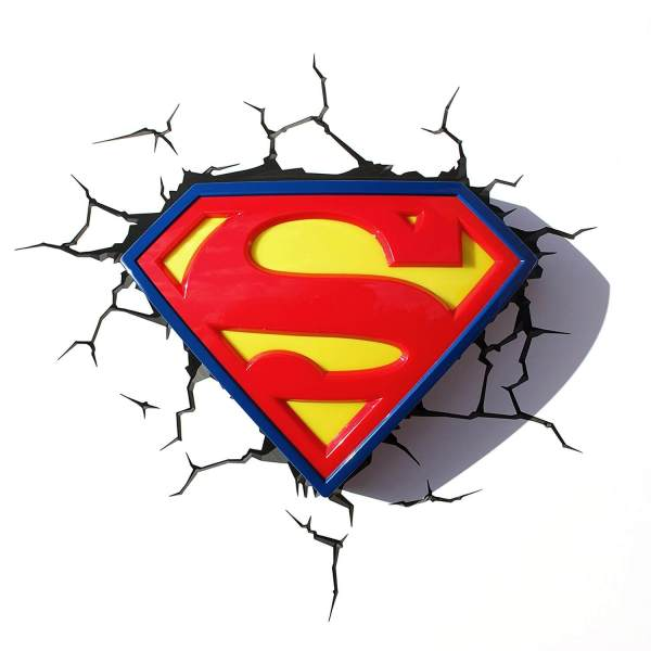 Superhelden 3D Wandleuchten – Optisch ein Highlight - Superman