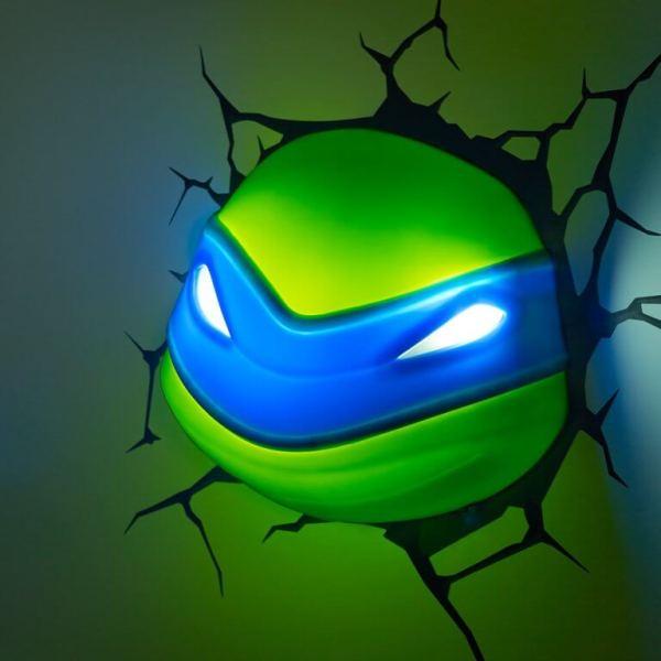 Superhelden 3D Wandleuchten – Optisch ein Highlight - Turtles Leonardo 2