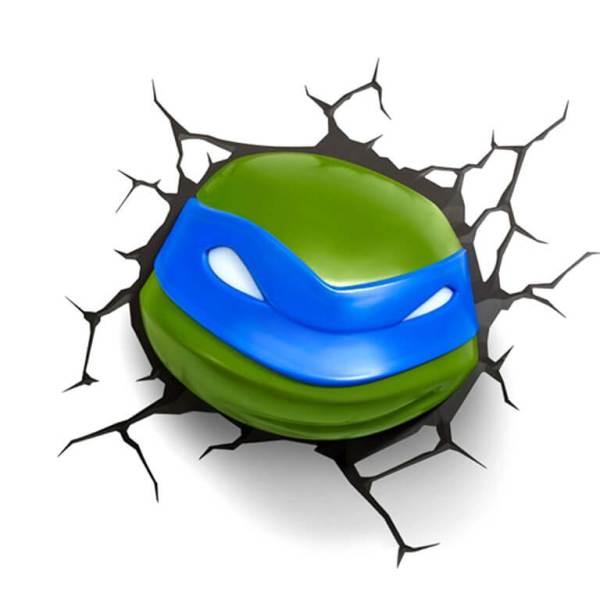 Superhelden 3D Wandleuchten – Optisch ein Highlight - Turtles Leonardo