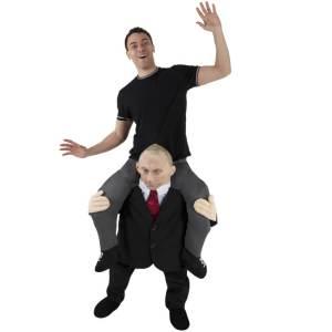 214 Carry Me Kostüm Wladimir Putin Huckepack Kostüm Russlands Präsident Putin Verkleidung Fabelwesen Piggyback Ride On auf den Schultern Faschings Karneval Kostüm JGA DIY