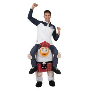 230 Carry Me Kostüm Schotte im Kilt Huckepack Kostüm Schotte im Schottenrock Verkleidung Ride On auf den Schultern Kostüm Faschings Geschenk Karneval Kostüm Halloween JGA DIY
