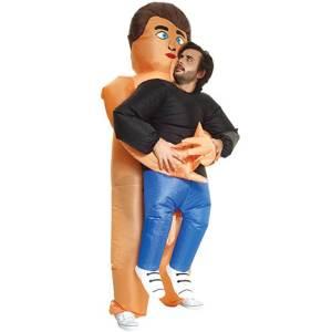 262 Carry Me Kostüm nackter Mann Verkleidung Piggyback Ride On auf den Schultern Perverser Mann Faschings Karneval Kostüm Halloween Junggesellenabschied DIY