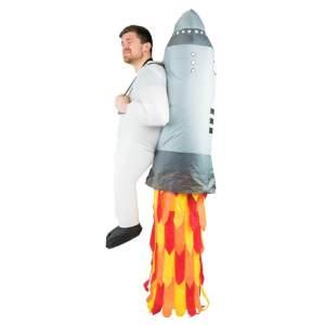 301 Carry Me Kostüm Rakete auf dem Rücken LIFT ME UP Verkleidung Piggyback Ride On auf den Schultern Jetpack Raketenrucksack Faschings Karneval Kostüm Halloween Junggesellenabschied DIY