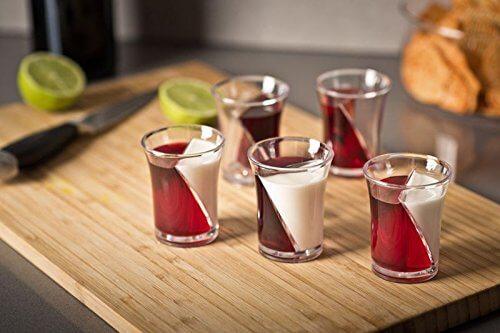 10 5 2-Kammern Twist Shot Schnapsgläser - Shotgläser im edlen Design - Zweikammern Shot Becher - Tequila Gläser - Schnaps Becher - Stamperl - Pinneken - Pinnchen - Schott Glas - Gläser Set10 5 2-Kammern Twist Shot Schnapsgläser - Shotgläser im edlen Design - Zweikammern Shot Becher - Tequila Gläser - Schnaps Becher - Stamperl - Pinneken - Pinnchen - Schott Glas - Gläser Set