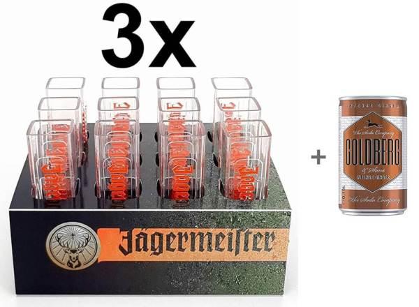 3x12 Jägermeister Reagenzgläser