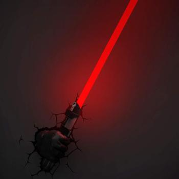 Star Wars 3D Wandlampe - Darth Vader Lichtschwert Hand Handschuh an - Superhelden Lampe - Wandlampe in 3D - Durch die Wand Lampe - 3D Lampe Star Wars