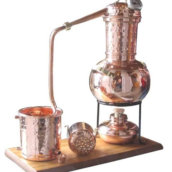 """2l Destille """"Kalif"""" mit Thermometer, mit Aromakorb"""