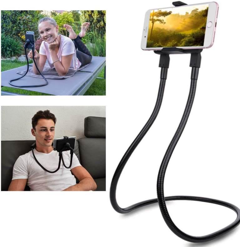 Praktischer Handyhalter - Nackenhalterung fürs Smartphone - Männer Gadget - Must Have beim Couching
