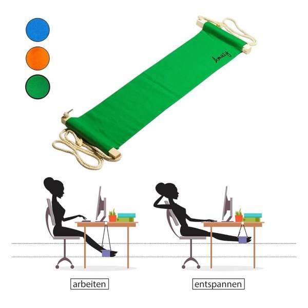 Schreibtisch Fußhängematte Enstpannung für das Büro Relaxed im Meeting 2