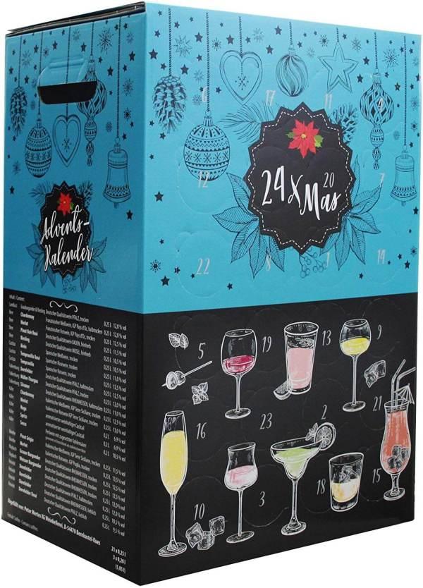 16 Wein Adventskalender - Adventskalender für Weinliebhaben - Wein-Testing Kalender - Adventskalender für Männer