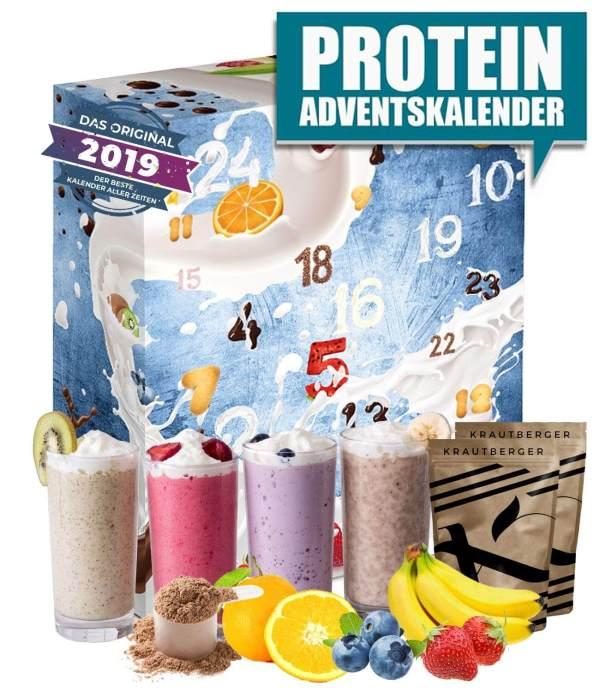 18 Protein Shake Adventskalender - Adventskalender für den Mann - Fitness Adventskalender - Adventskalender für Sportler