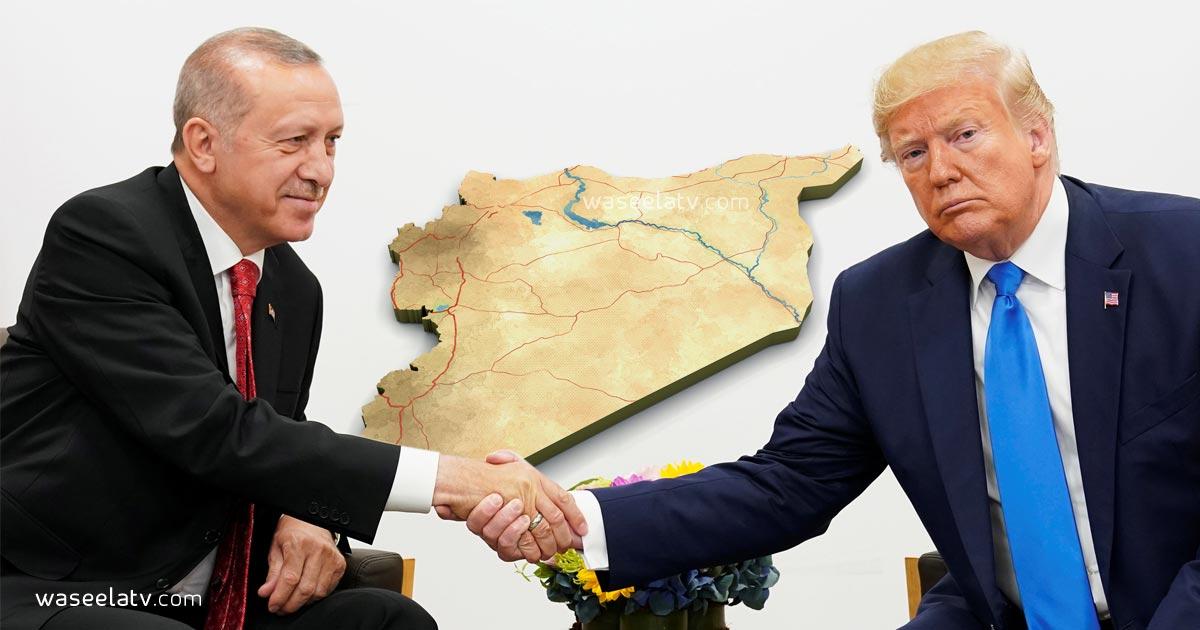 نتيجة بحث الصور عن ترامب وخريطة سورية