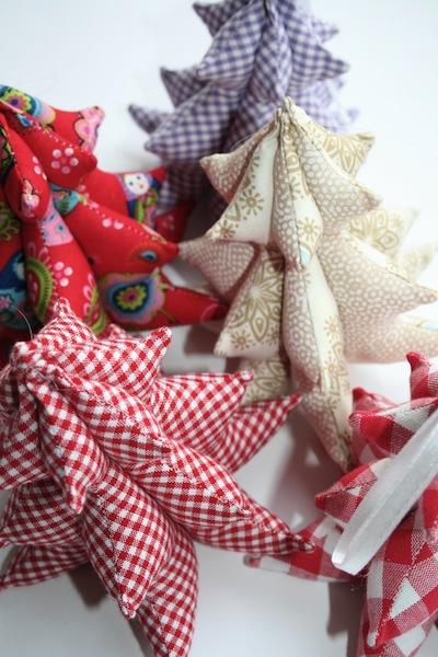 Genähte 3D Weihnachtsbäumchen waseigenes.com