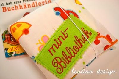 Minibibliothek | Stoffhülle für Pixi Bücher | Stoffumschlag | DIY | waseigenes.com