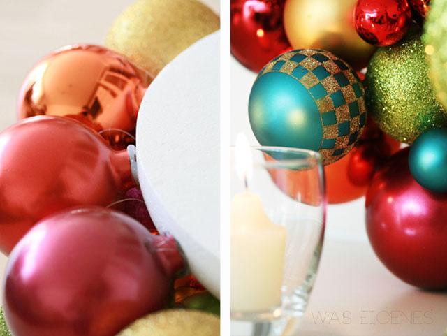 DIY Weihnachtskugelkranz | christmas ball wreath | selbermachen | crafts & DIY project | waseigenes.com
