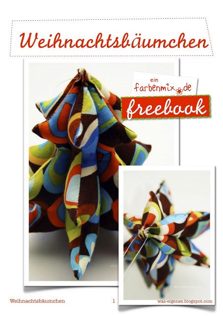 Weihnachtsbäumchen | Kostenloses Ebook | Freebok | Schnittmuster & Fotoanleitung | waseigenes.com