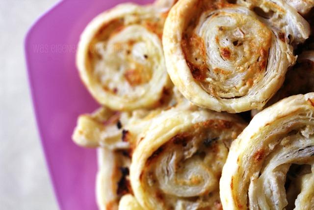 Partyfood | kaltes Buffet | waseigenes.com | Blätterteigschnecken Gorgonzola